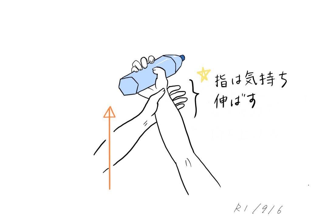 優しく手を持ち上げるイラスト