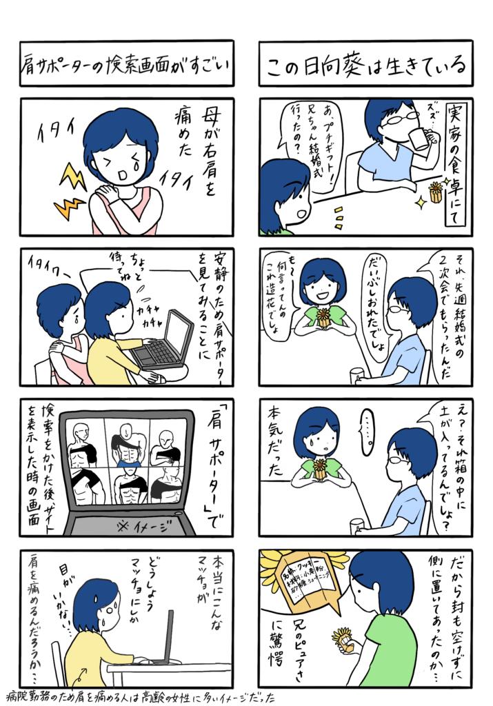 4コマ漫画のPNG