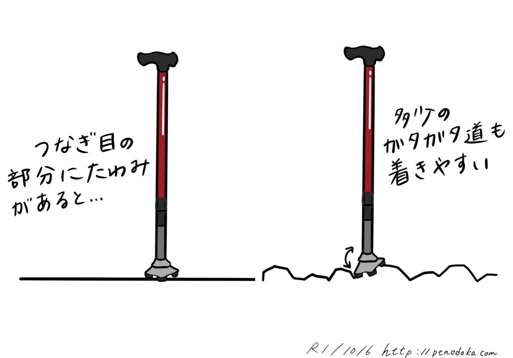 3点杖の良い所のイラスト