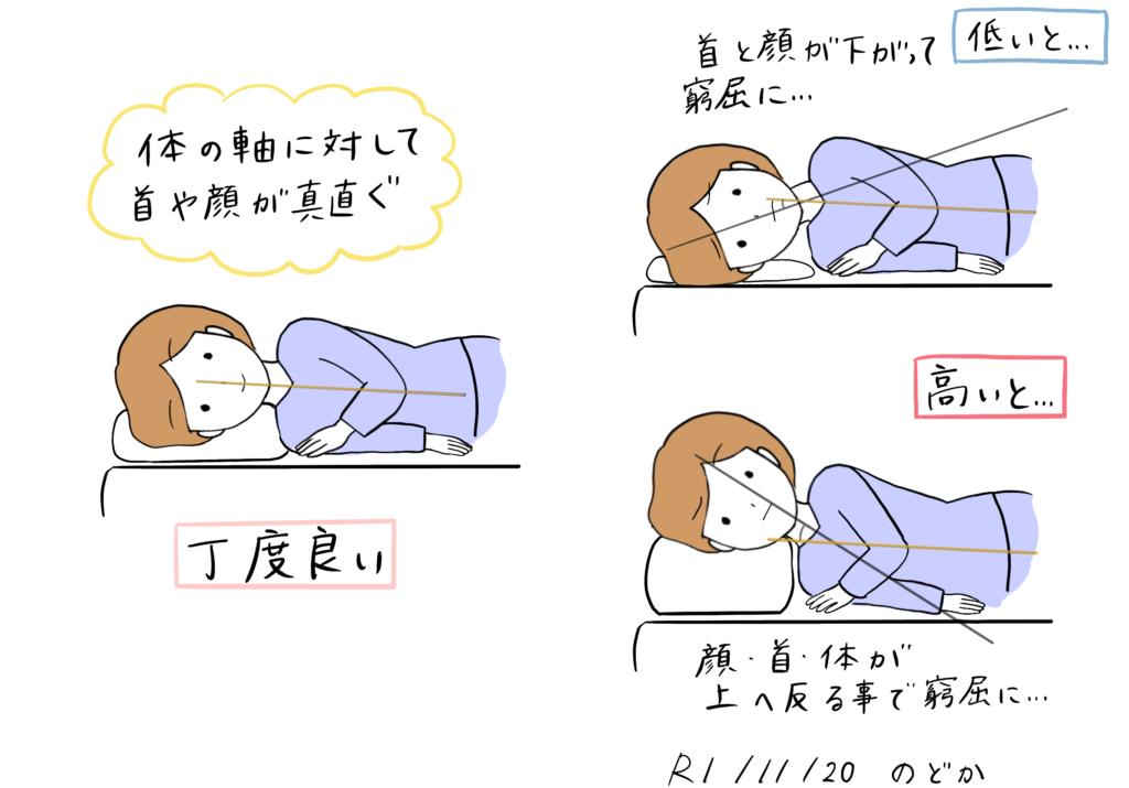 横向き枕の高さの選び方