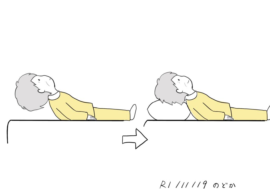 人によって異なる丁度良い枕の高さのイラスト
