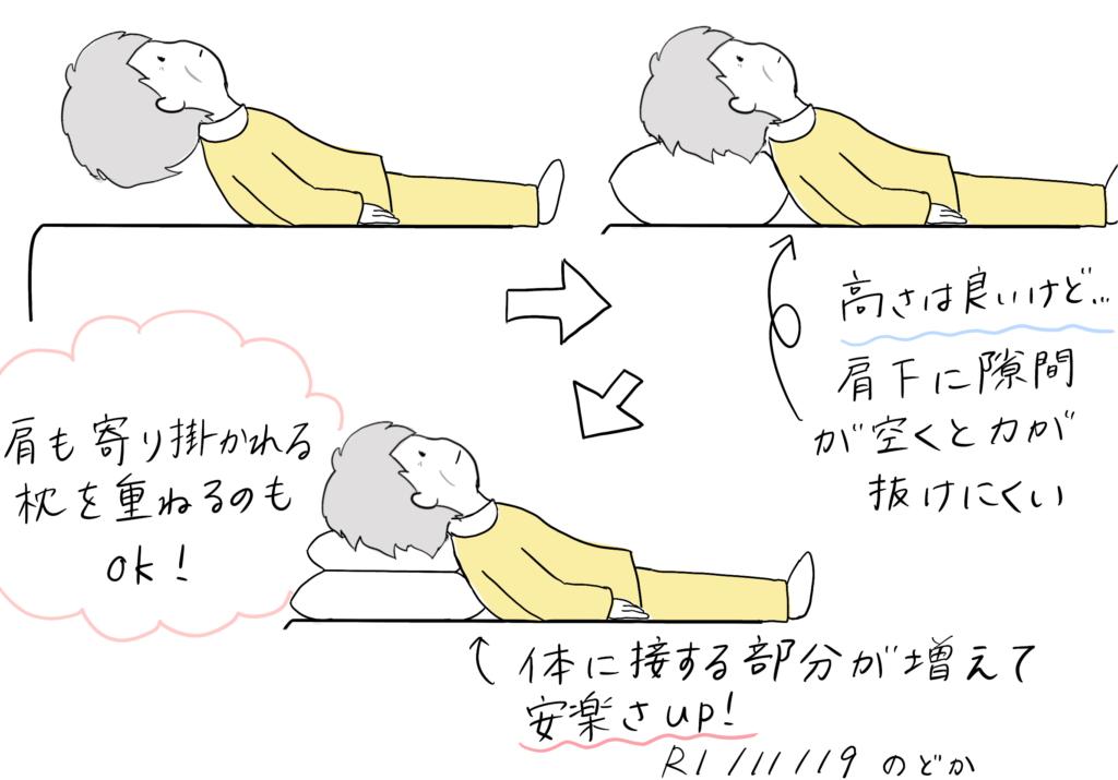 仰向け枕の高さの選び方