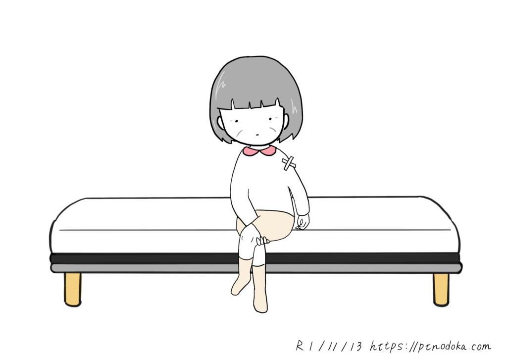 ズボンの履き方のイラスト