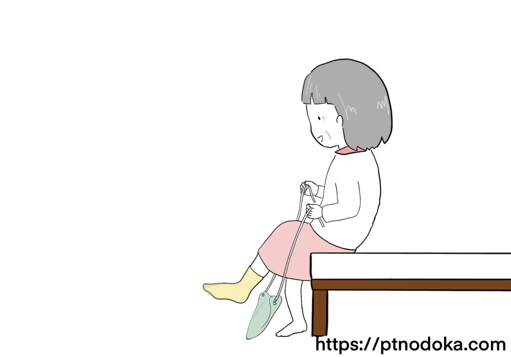 ソックスエイドの使い方のイラスト