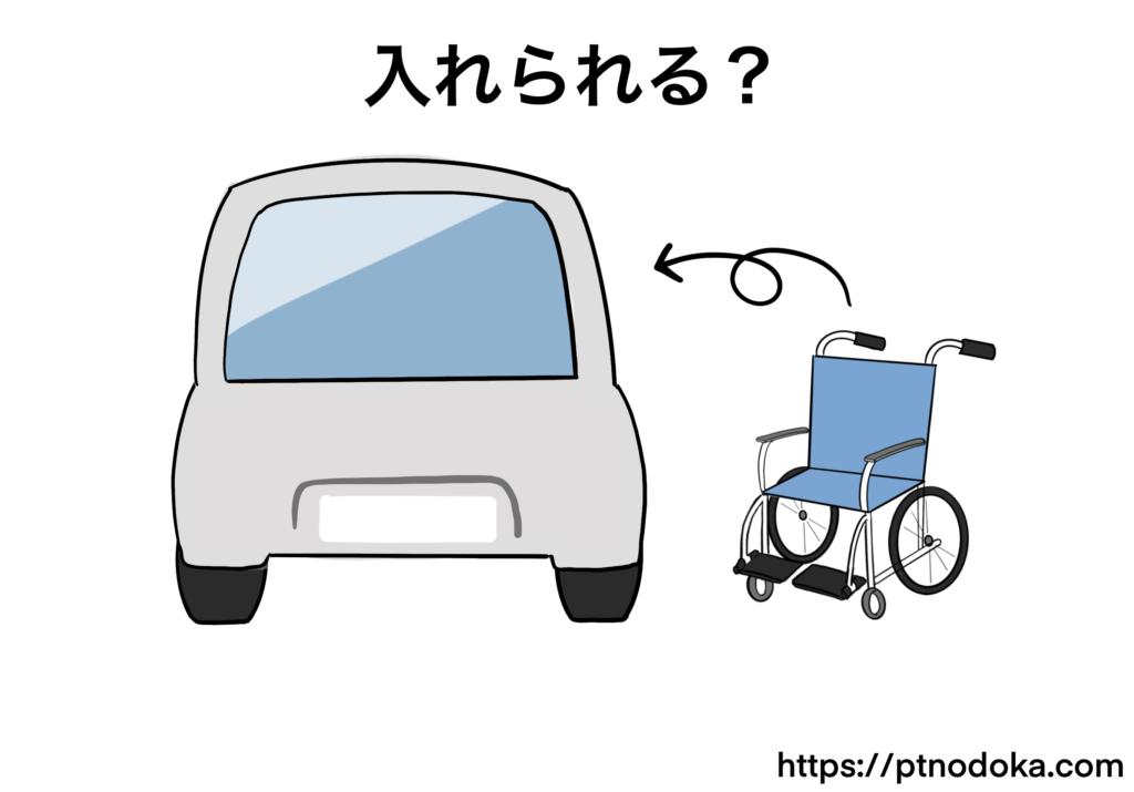 車と車椅子のイラスト
