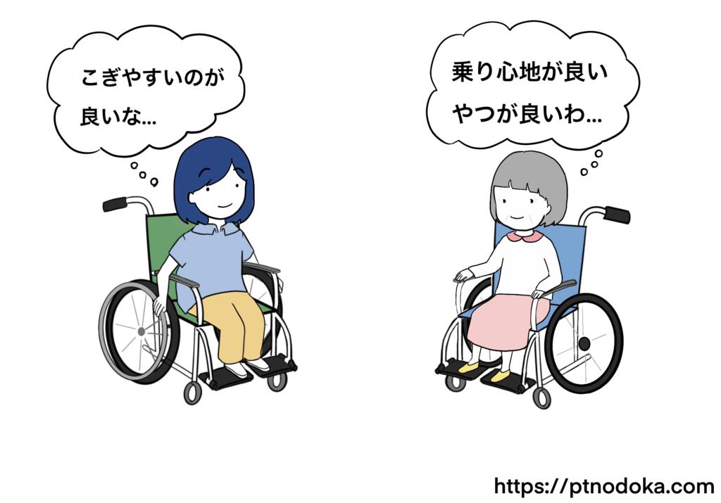車椅子に求める希望のイラスト