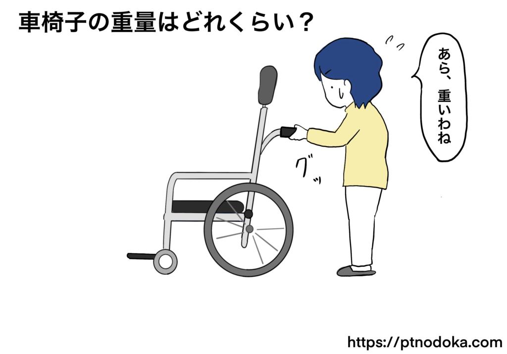 車椅子が重いイラスト