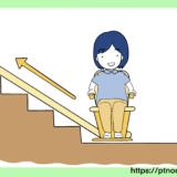 椅子式階段昇降機のイラスト