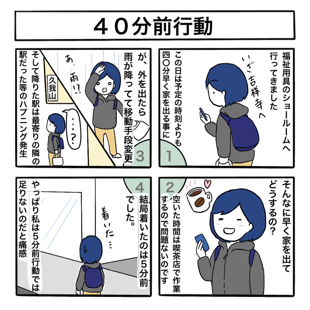 40分前行動の4コマ漫画