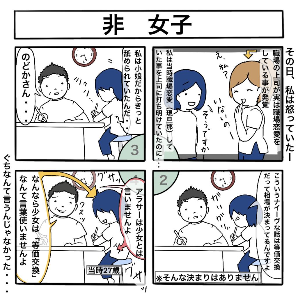 職場恋愛の4コマ漫画