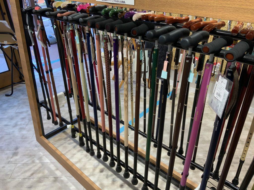 ステッキ杖工房シナノ(sinano)吉祥寺店の1本杖の写真