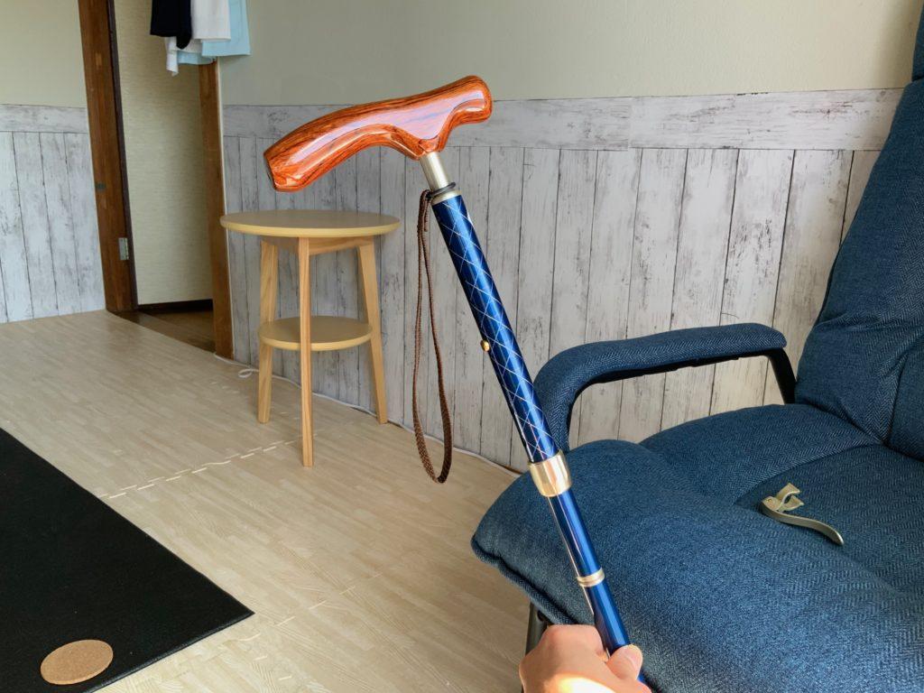 カイノス【COOL】ネイビー(折りたたみ杖)の写真