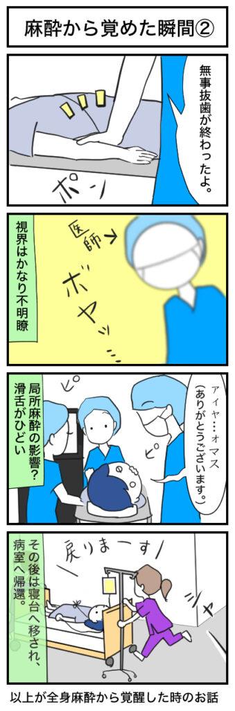 麻酔から覚めた瞬間の4コマ漫画(2)